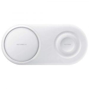 Cargador Inalambrico Wireless Charger Duo Pad para Samsung color Blanco