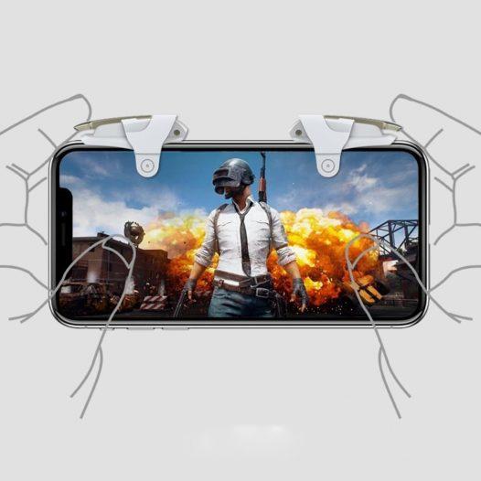 Gatillos gaming para celular Gris