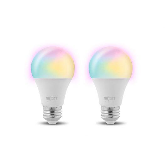 Nexxt Paquete de Bombillas Multicolor LED inteligente Wi-Fi 110V - A19