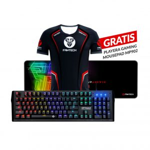 Combo Teclado Mecánico RGB Aluminio MK885 + Mousepad Gaming MP902 + Playera GRATIS