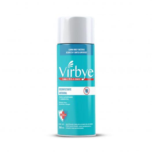 Desinfectante Ambiental Antiviral en Aerosol 354g maraca Virbye