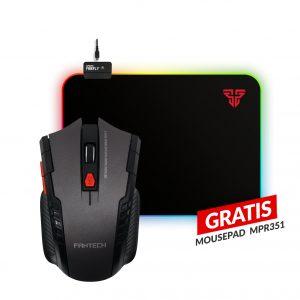 Combo Mouse Gaming Inalambrico W4 Raigor + Mousepad Gaming MPR351 RGB GRATIS