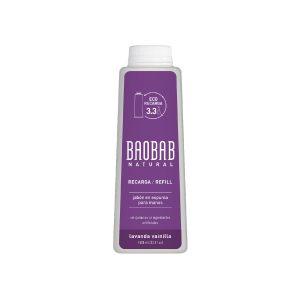 Jabón para Manos Espuma Lavanda Vainilla Refill 1000ml Baobab Natural