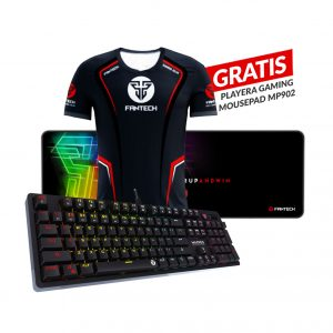 Combo Teclado Gaming Mecánico MK851 Max Pro RGB  + Mousepad Gaming MP902 + playera GRATIS