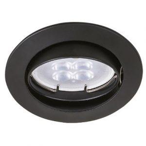 Empotrado Sin Lámpara Tecno Lite Mr16, 50 Watts Negro