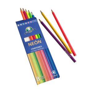 Crayones Triangulares colores Neón 8 und marca Mis Pasitos
