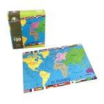 Rompecabeza para niños «El mundo 100 pza» marca Mis pasitos