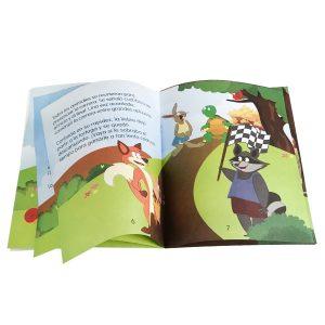 Libro de cuento infantil - La liebre y la tortuga