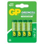 Baterías AA 1.5V Green Cell Cartón 4 Piezas Marca GP