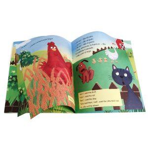 Libro de cuento infantil - La gallinita colorada