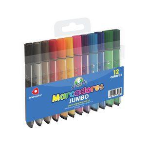 Marcadores Tringulares Jumbo 12 Colores marca Mis Pasitos