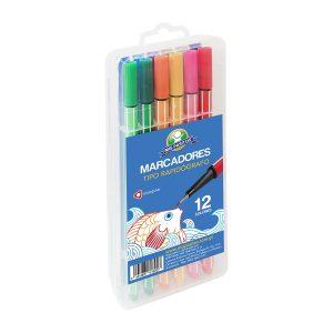 Estuche de Marcador Triangulares Tipo Rapidógrafo 12 Colores marca Mis Pasitos