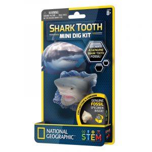 Coleccionable Mini Dig Kit  Diente de tiburón National Geographic