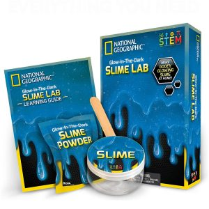 Slime Lab kit color Azul National Geographic