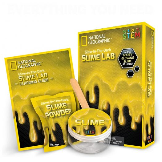 Slime Lab Kit color amarillo National Geographic
