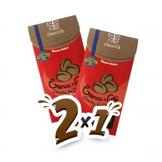 Promoción 2x1 Granos de Café Cubiertos de Chocolate con Leche (115g)