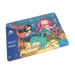 Rompecabeza para niños «Sirena 20 pza con respaldo» marca Mis pasitos