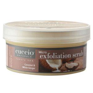 Exfoliante Fino 16 Onzas Coco y Genjibre marca Cuccio