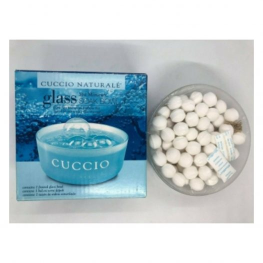 Bowl de Vidrio con 100 Soak Balls Leche y Miel marca Cuccio