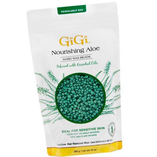 Cera en Perlas para depilar de Aloe Vera 14 Onzas marca GiGi