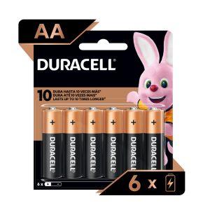 Bateria DURACELL REGULAR AA 4und + 2und GRATIS