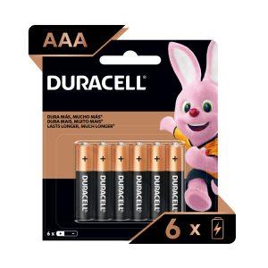 Bateria DURACELL REGULAR AAA 4und + 2und GRATIS