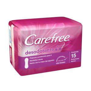 Protector intimo diario CAREFREE desodorante  15 und