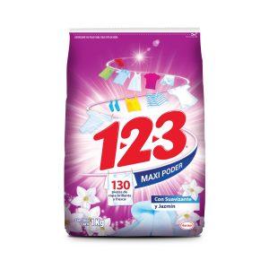 Detergente Jazmin 1Kg marca 123