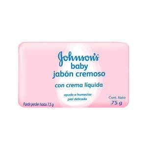 Jabón para bebe JOHNSON BABY cremoso humectante rosado 75gr