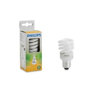 Foco eco twister luz calida 12W marca PHILIPS