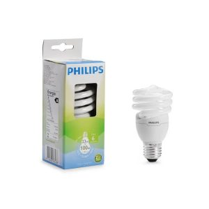 Foco eco twister luz calida 23W marca PHILIPS