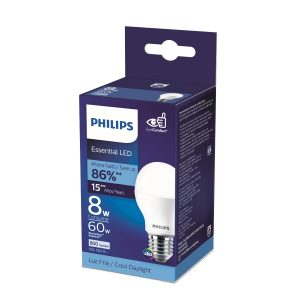 Foco led Essential luz blanca 8W/60W marca PHILIPS