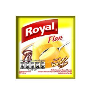Flan en polvo ROYAL sabor vainilla (40g X 12und)