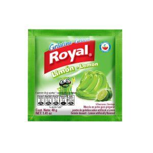 Gelatina en polvo ROYAL sabor limon (40g X 12und)