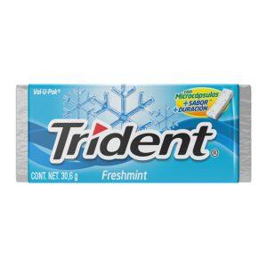 Goma de mascar TRIDENT EVUP FRESHMINT  (30.6g X 12und)