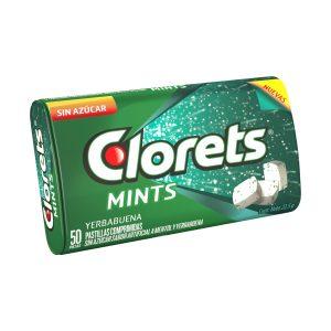 Goma de mascar CLORETS spearmint mints  (22.5g X 9pq)