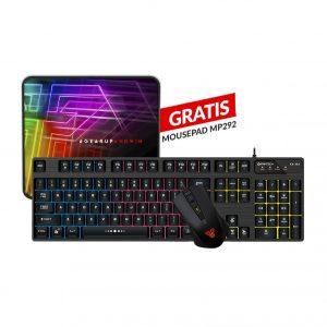 Combo Teclado y Mouse Gaming RGB KX302 + Mousepad MP292 GRATIS Fantech