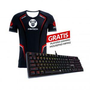 Combo Teclado Gaming Mecánico MK851 Max Pro RGB + playera GRATIS