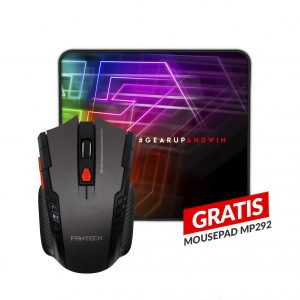 Combo Mouse Gaming Inalambrico W4 Raigor + Mousepad MP292 GRATIS Fantech