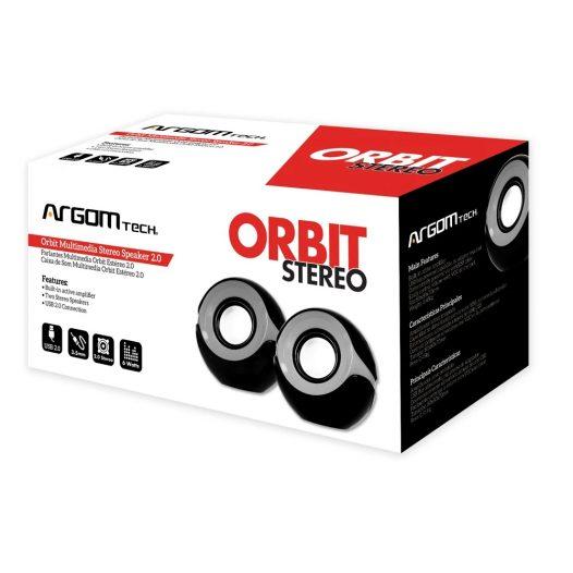 Bocinas Estéreo 6W Orbit Color Gris Marca Argom