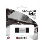 Memoria USB tipo C de 64GB Data Traveler 80 marca Kingston