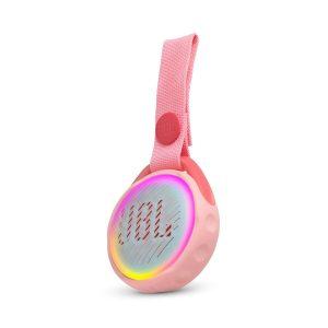Bocina Bluetooth JBL JR POP Bluetooth 3W Color Rosado Luces LED colores