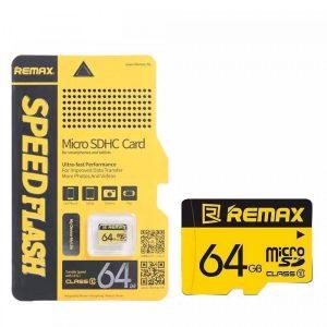 Memoria micro SD, Clase 10 con 64 gigas. Marca Remax