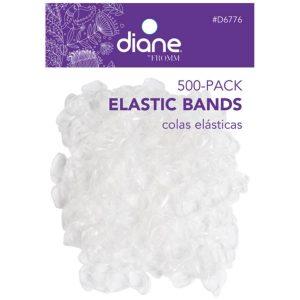 Hules para cabello Transparentes 500 Unidades marca Diane
