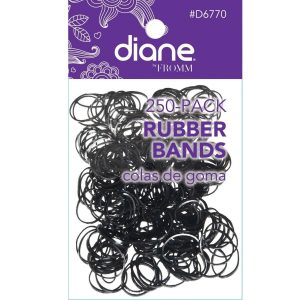Hules para cabello Negros 250 Unidades marca Diane