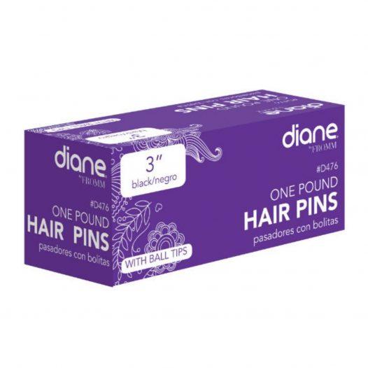 """Ganchos para cabello Negros 3"""" marca Diane"""