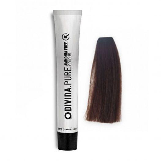 Tinte para cabello 5.1 Cenizo Muy Obscuro Sin Amonia marca Eva Professional