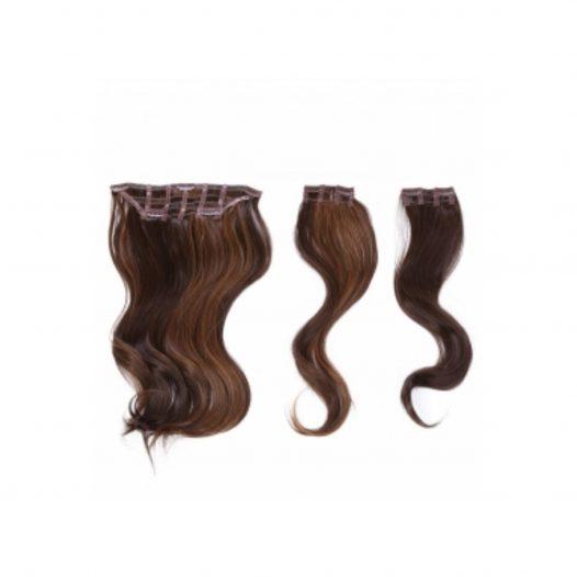 """Kit de extensiones 3 Piezas 18"""" Color R830 marca Hairdo"""