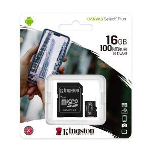 Tarjeta MicroSD de 16GB Canvas Select Plus Clase 10 marca Kingston para Android