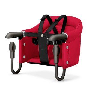 Silla Portátil para Bebes con Anclaje a Mesa marca Beeshum color Rojo